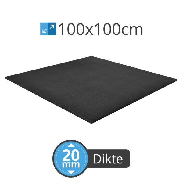 Cross Fitness 100 MT 20 Rubber tegel Meneertegel