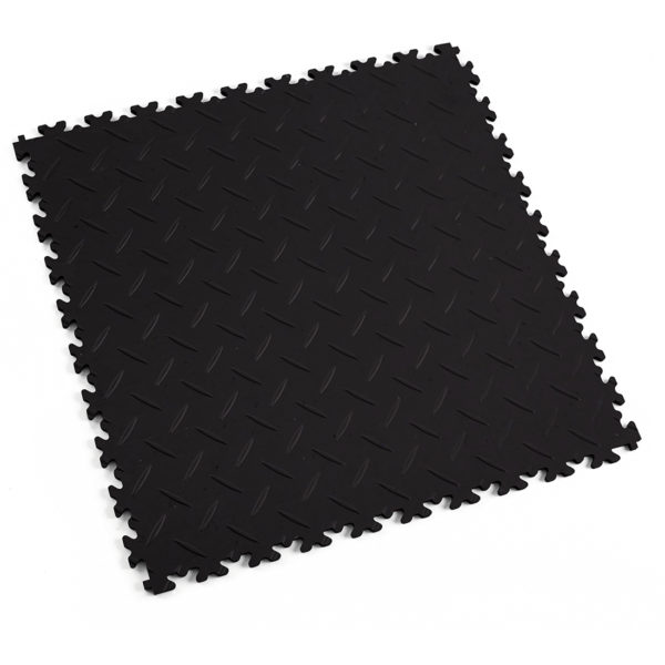 Diamonds Black eco MeneerTegel PVC en rubber vloer tegels