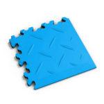 PVC hoek electric blue diamonds MeneerTegel PVC en rubber vloer tegels