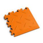 PVC hoek orange diamonds MeneerTegel PVC en rubber vloer tegels
