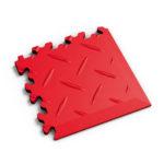 PVC hoek rosso red diamonds MeneerTegel PVC en rubber vloer tegels